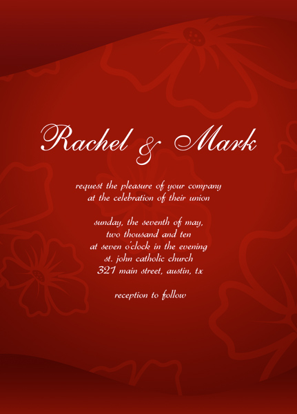 Free Wedding Invitation Cards Templates
