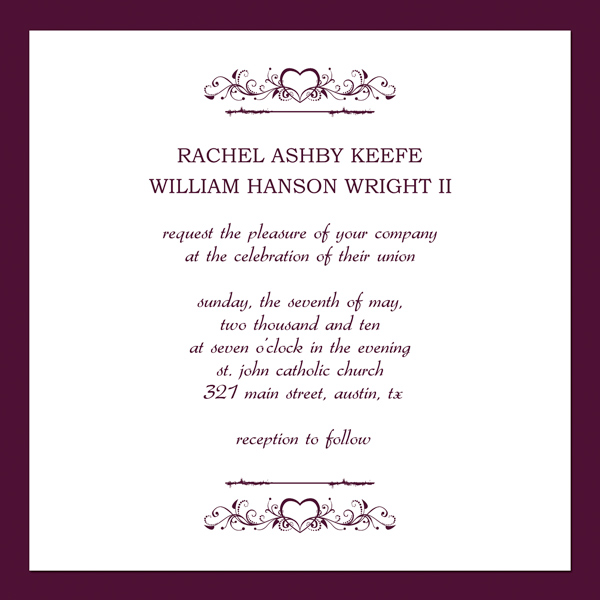 wedding invitations template 28 images wedding invitation – Example of Wedding Invitation Cards