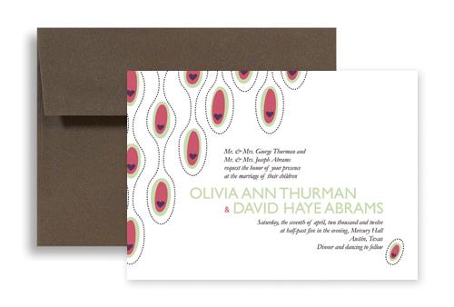 Heart Concept Design Blank Wedding Invitation 7x5 In Horizontal