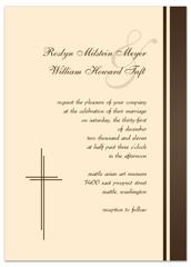 Spiritual S Design Blank Wedding Invitation