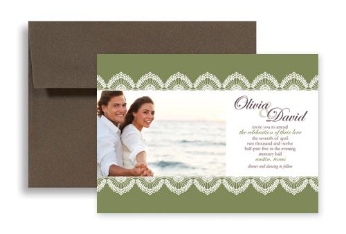 Customizable Wedding Invitation Templates: Personalized Photo Microsoft Word Wedding Invitation 7x5