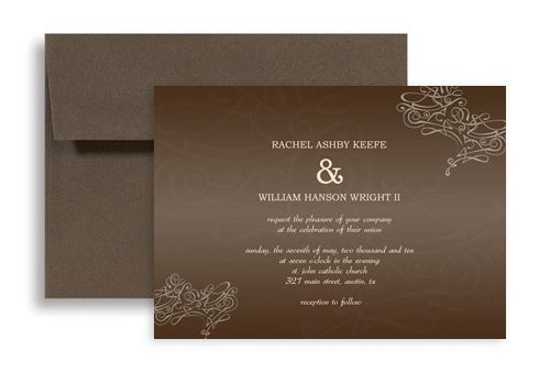 Bells Pattern Design Printable Wedding Invitation 7x5 In Horizontal