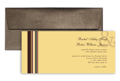 Long Horizontal Design Wedding Invitation Ideas 9x4 In