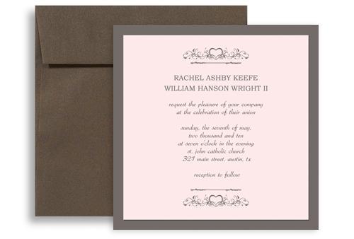 Western Wedding Invitations Templates: Western American Style Wedding Invitation Templates 5x5 In