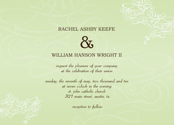 Wedding Invitations Templates Free For Word Mini Bridal