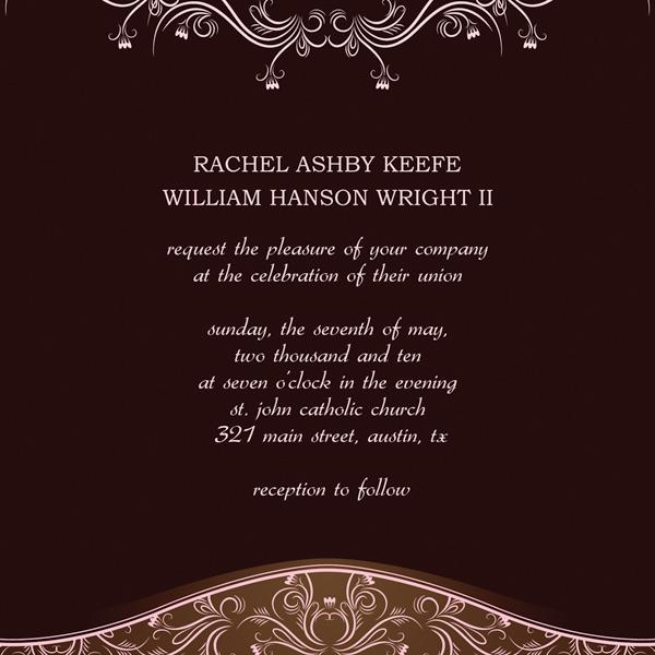 wedding templates invitations